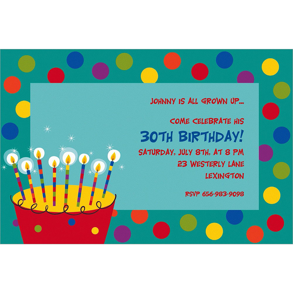 Custom Perfect Time To Party Invitations Image #1