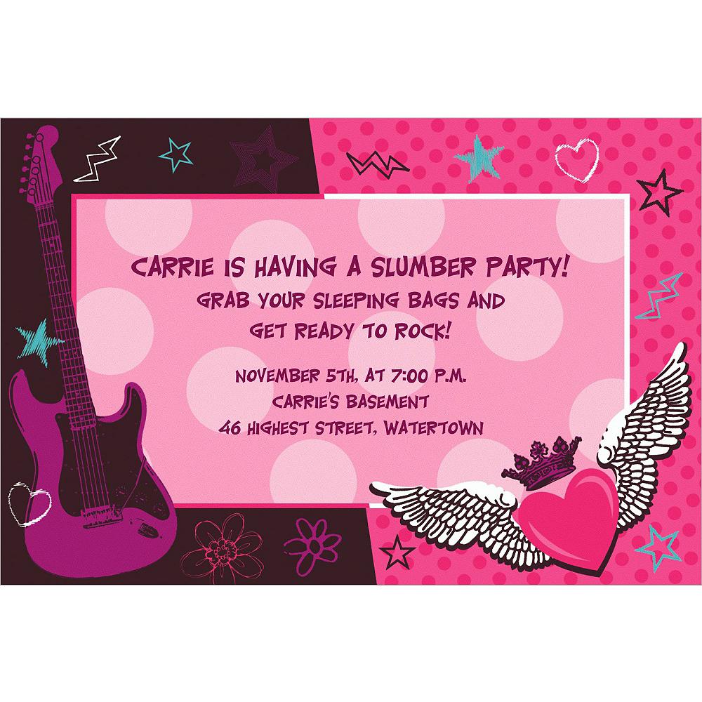 Custom Rocker Girl Invitations Image #1