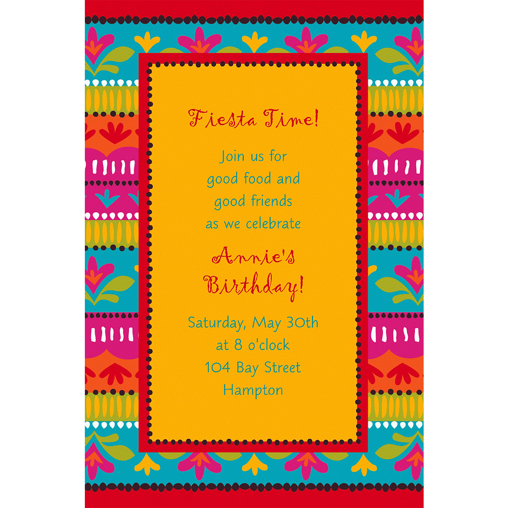Custom Fiesta Brights Invitations Image #1