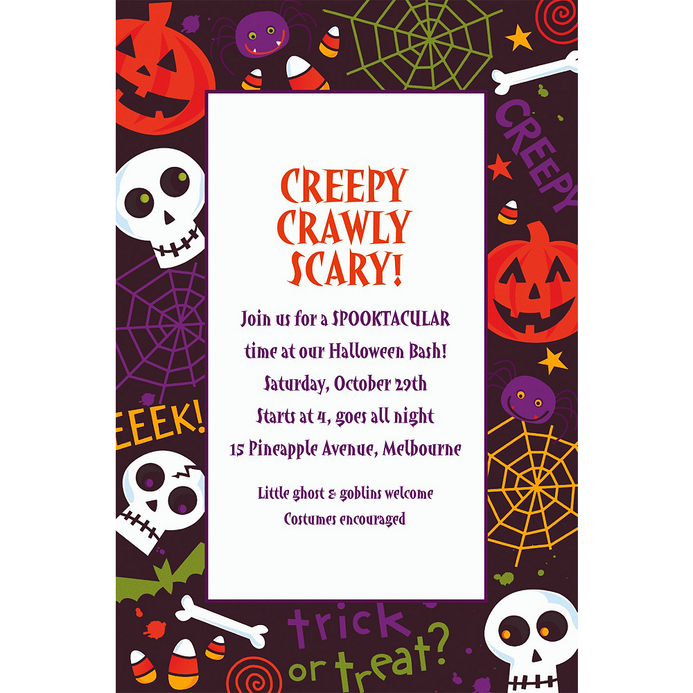 Custom Spooktacular Halloween Invitations Image #1