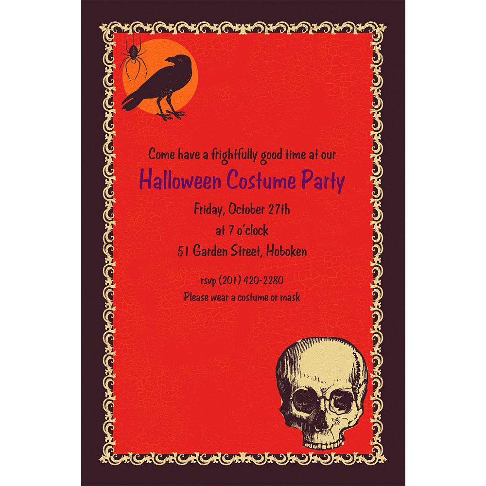custom be afraid halloween invitations