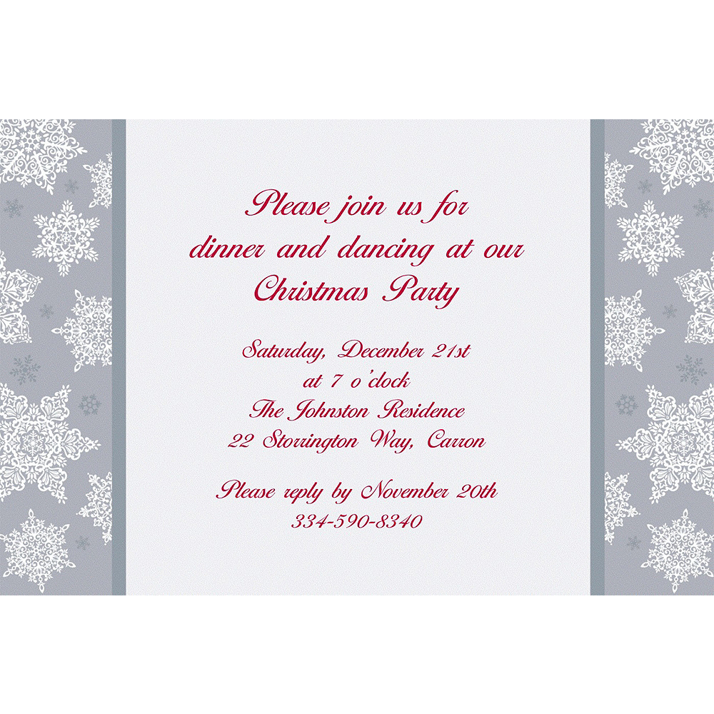 Custom Shining Season Christmas Invitations Image #1
