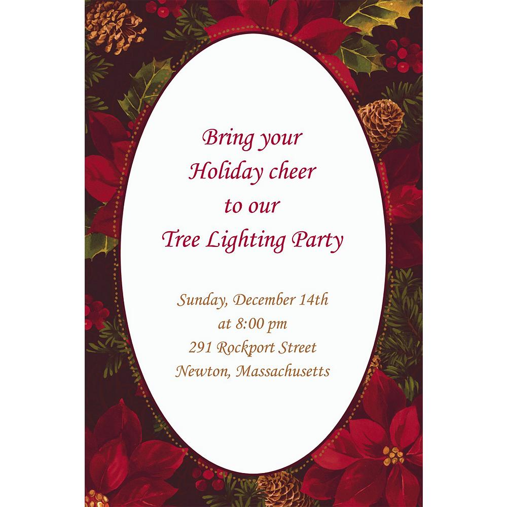 Custom Holiday Enchantment Invitations Image #1
