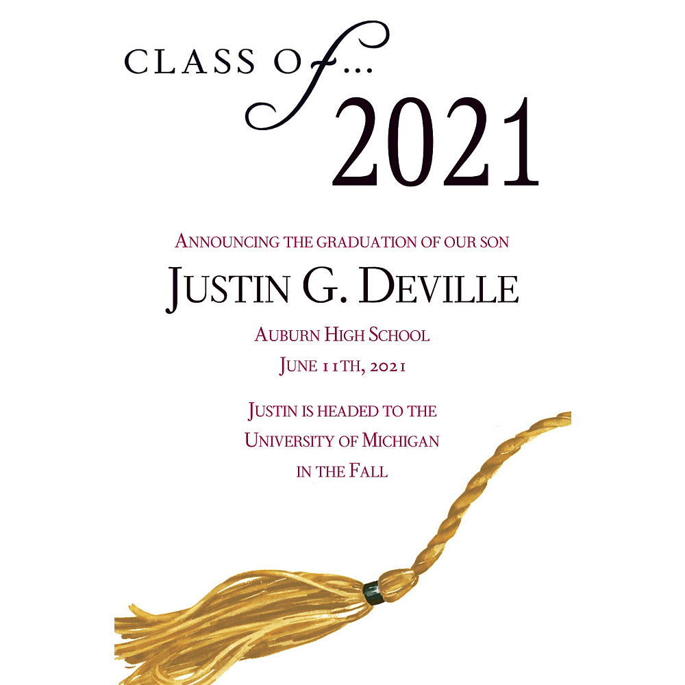 Custom Class Of Graduation Announcements    Image #1