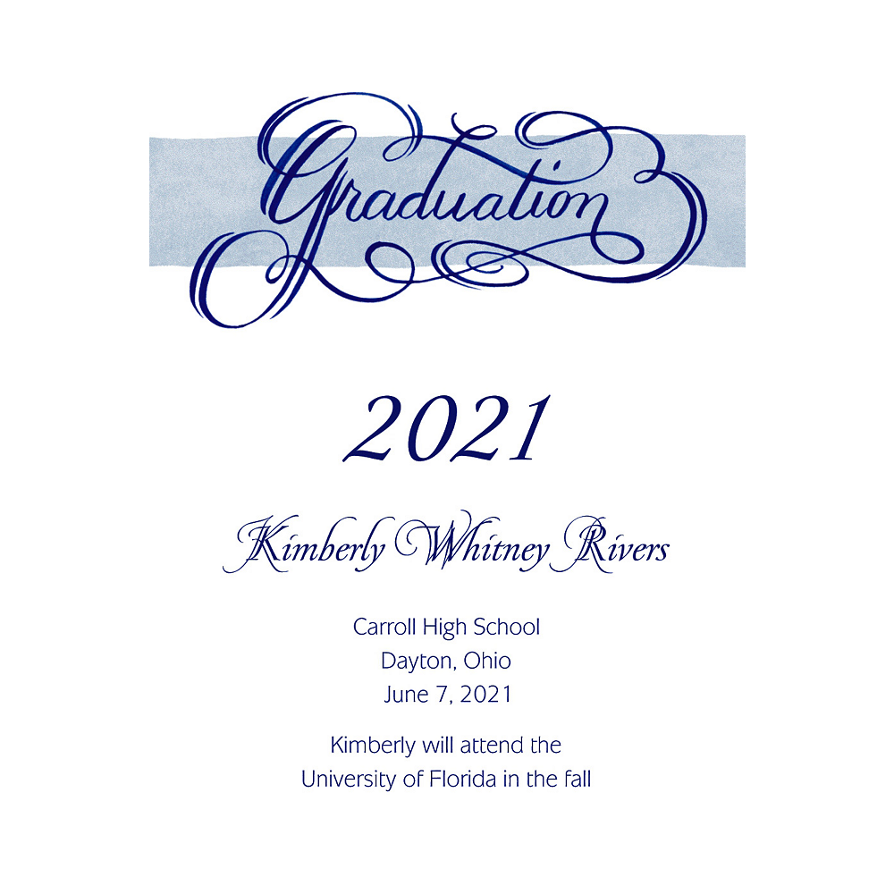 Custom Calligraphic Graduation Announcements  Image #1