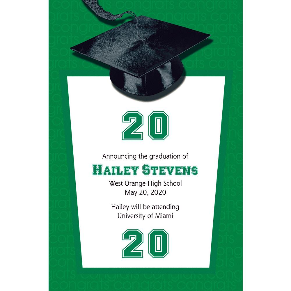 Custom Green Congrats Grad Announcements  Image #1