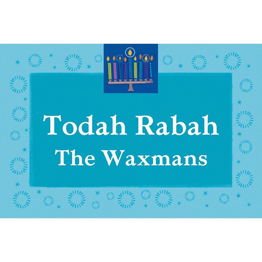 Custom Hanukkah Wishes Thank You Notes Image #1