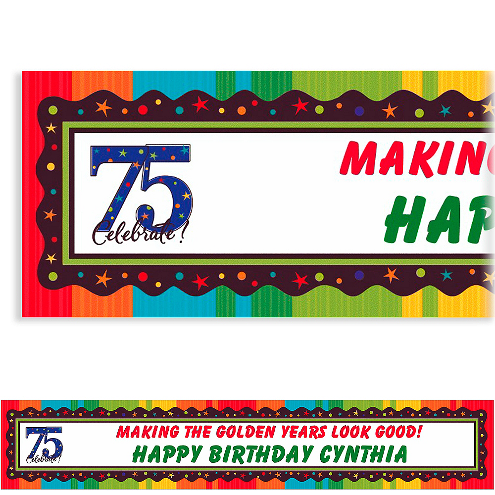 Custom A Year to Celebrate 75th Banner 6ft Image #1