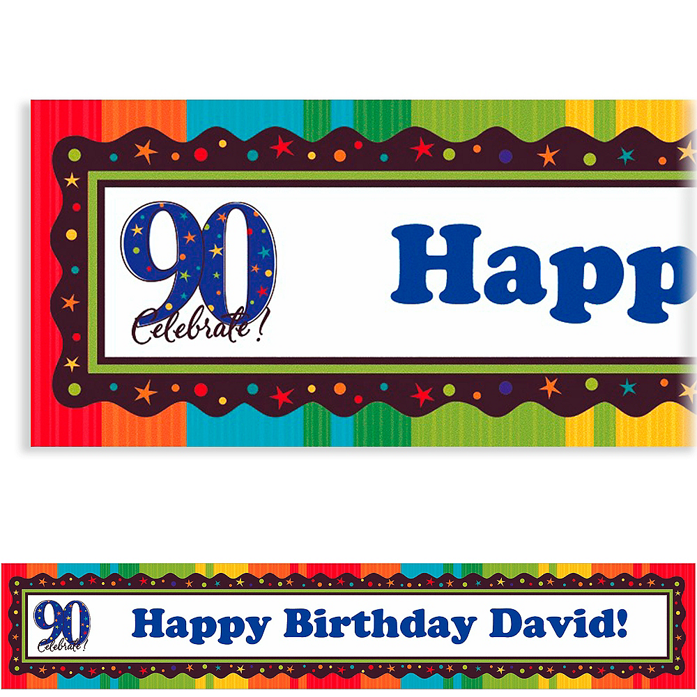 Custom A Year to Celebrate 90th Banner 6ft Image #1