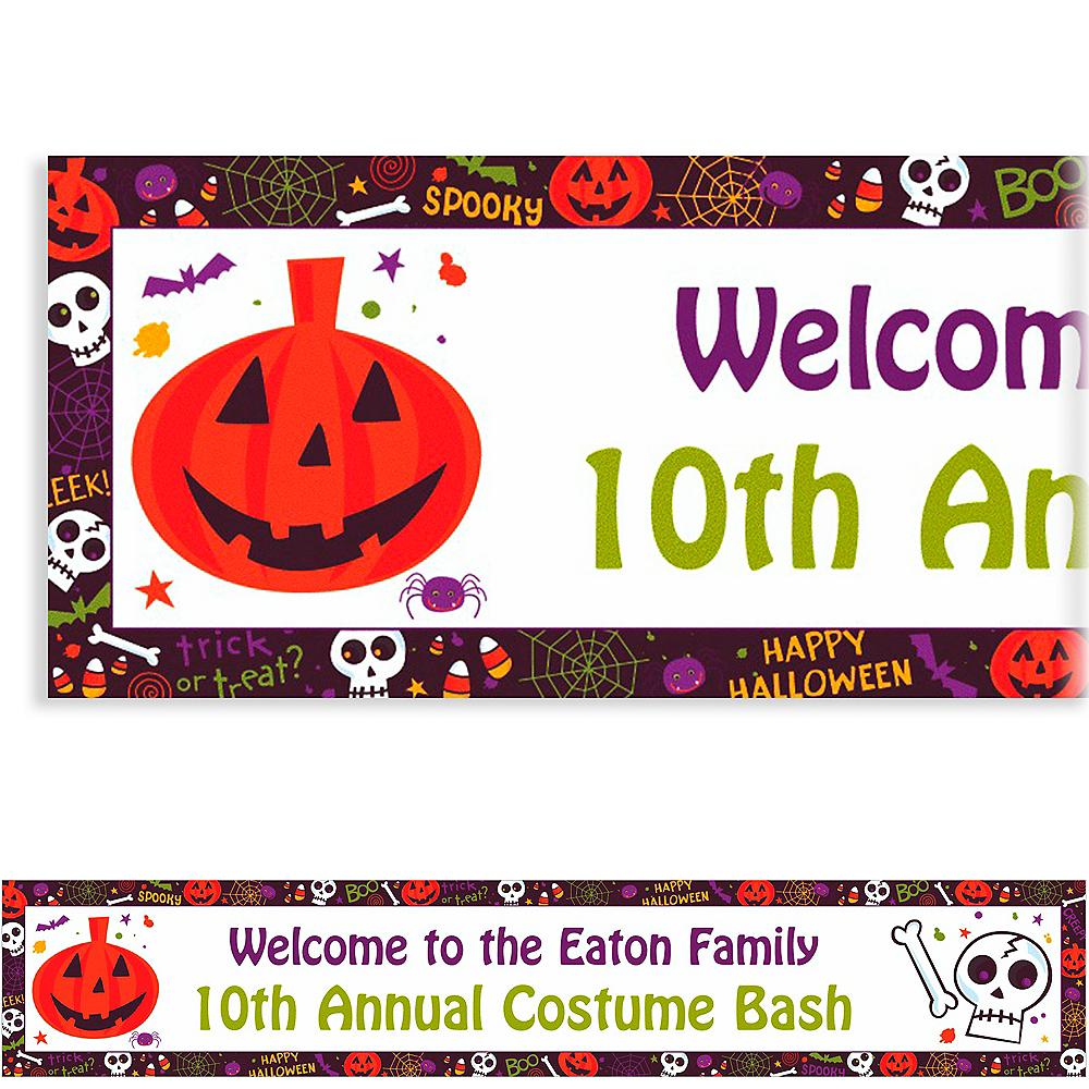 Custom Spooktacular Halloween Banner 6ft Image #1