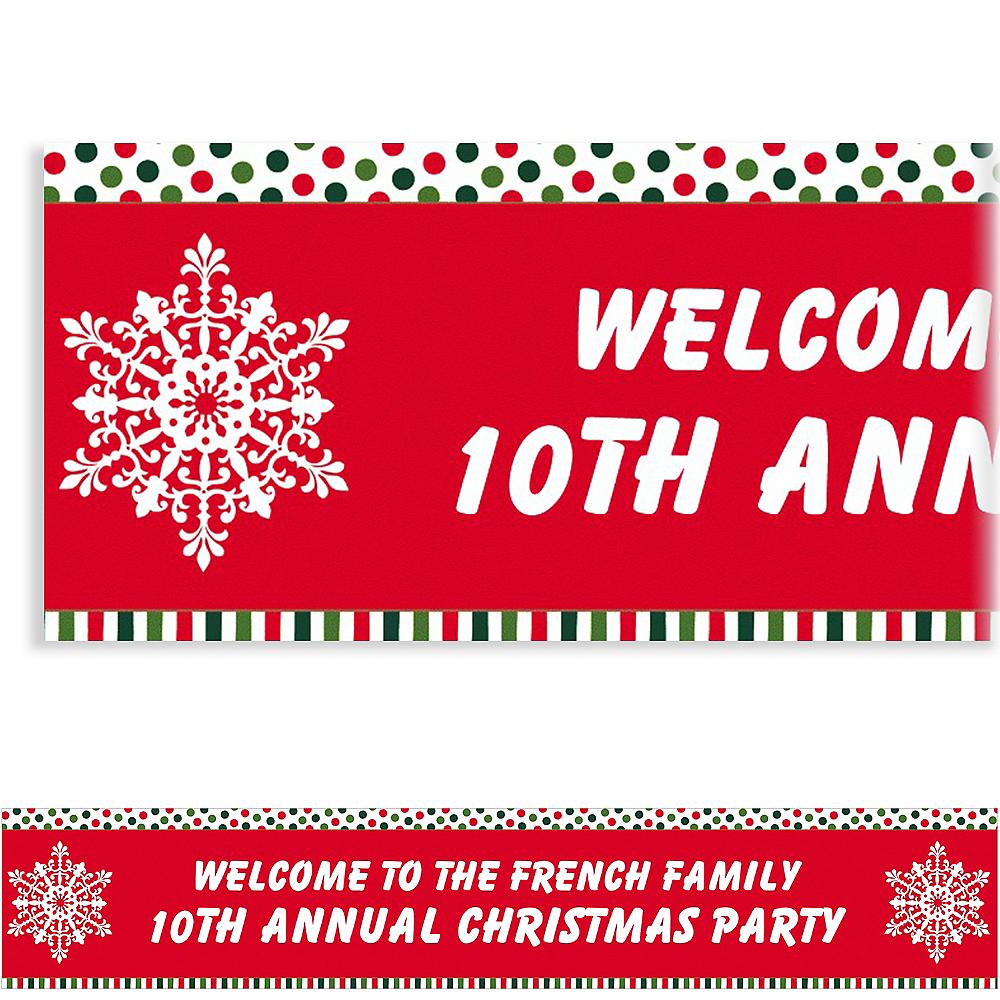 Custom Holiday Dots & Stripes Banner 6ft Image #1