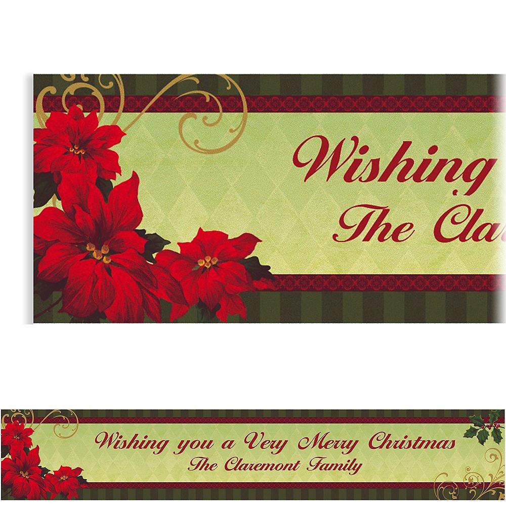 Custom Vintage Poinsettia Banner 6ft Image #1