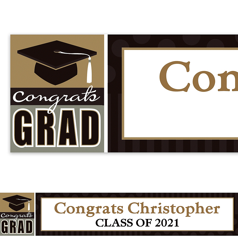 Custom Class Pride Graduation Banner 6ft  Image #1