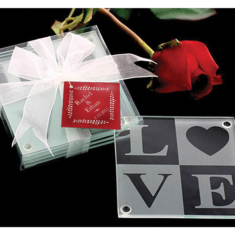 Love Glass Coasters Image #1