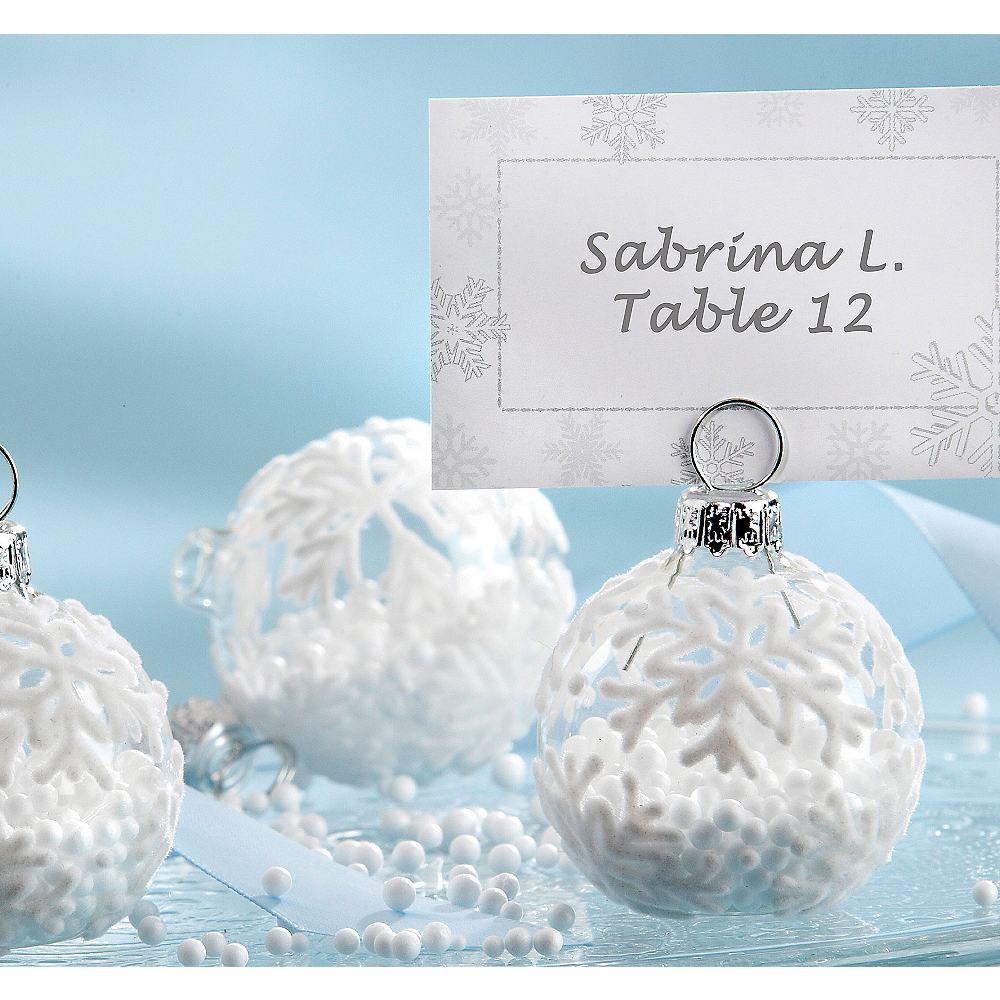 Snowflake Ornament Place Card