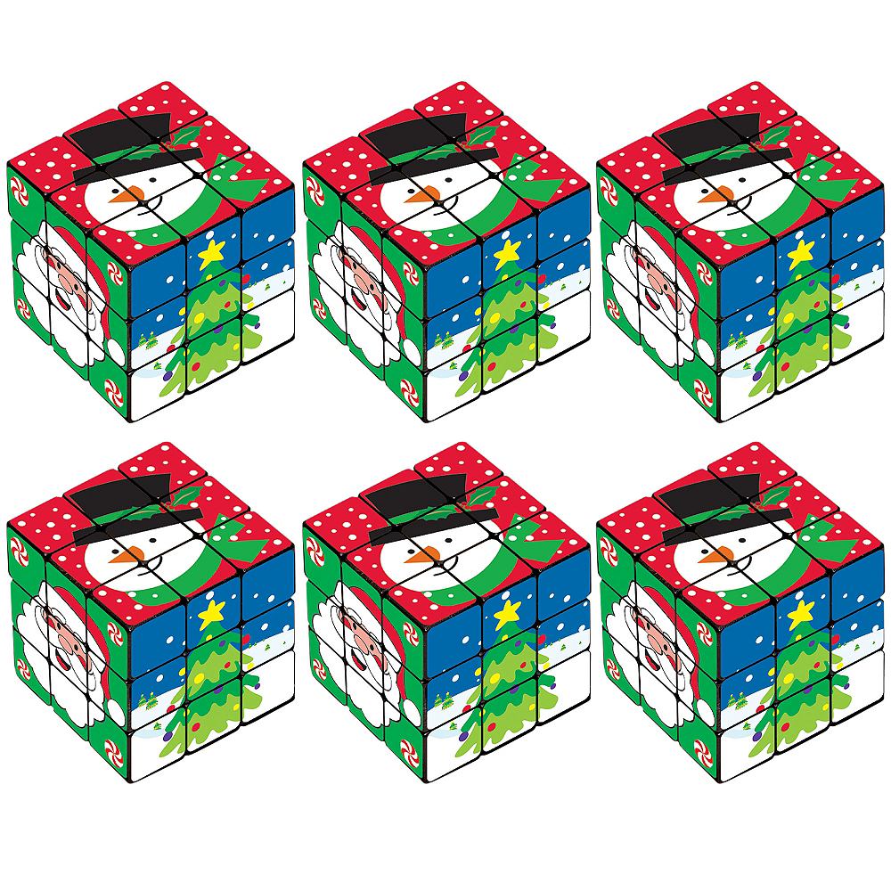 Nav Item for Christmas Puzzle Cube 6ct Image #1