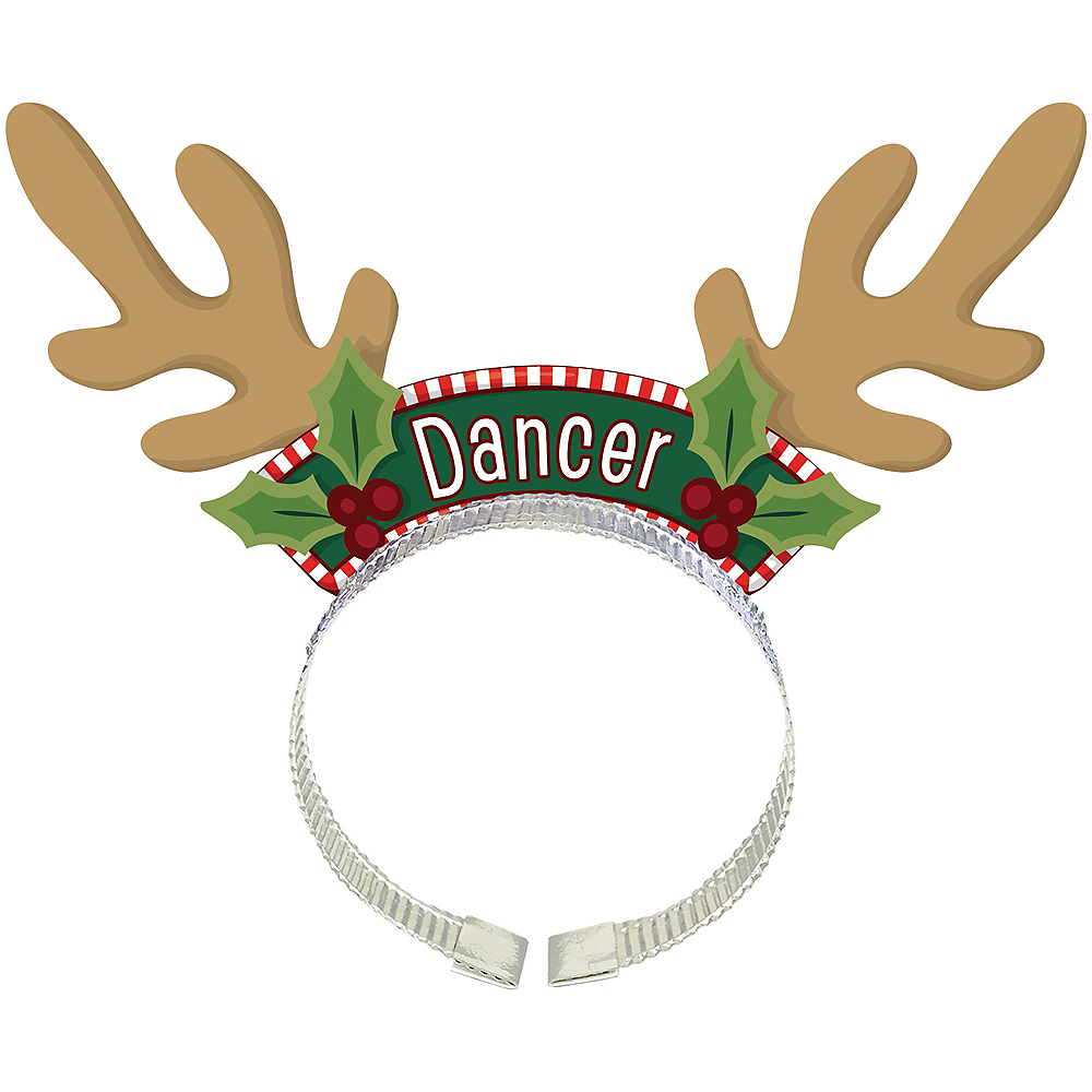 Nav Item for Santa's Reindeer Antlers Headbands 8ct Image #2