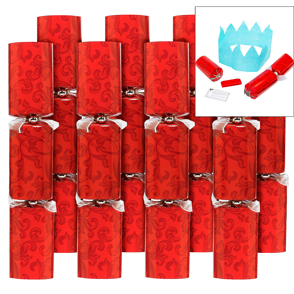 Red Christmas Crackers 8ct Image #1