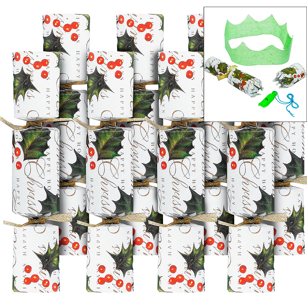 Holly Christmas Crackers 8ct Image #1