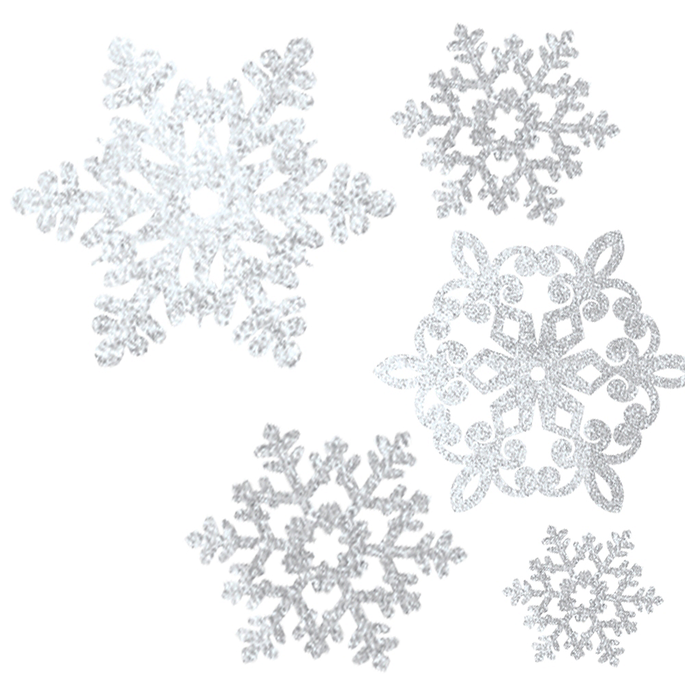 Nav Item for Glitter Snowflake Cutouts 20ct Image #1