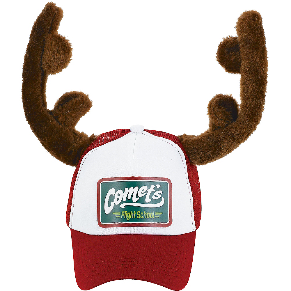 Christmas Trucker Hat with Antlers Image #1