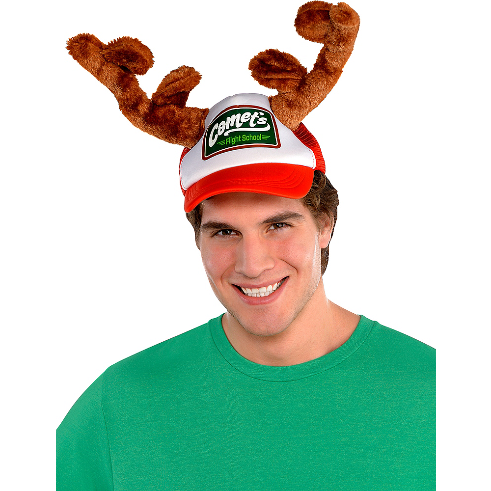 Christmas Trucker Hat with Antlers Image #2