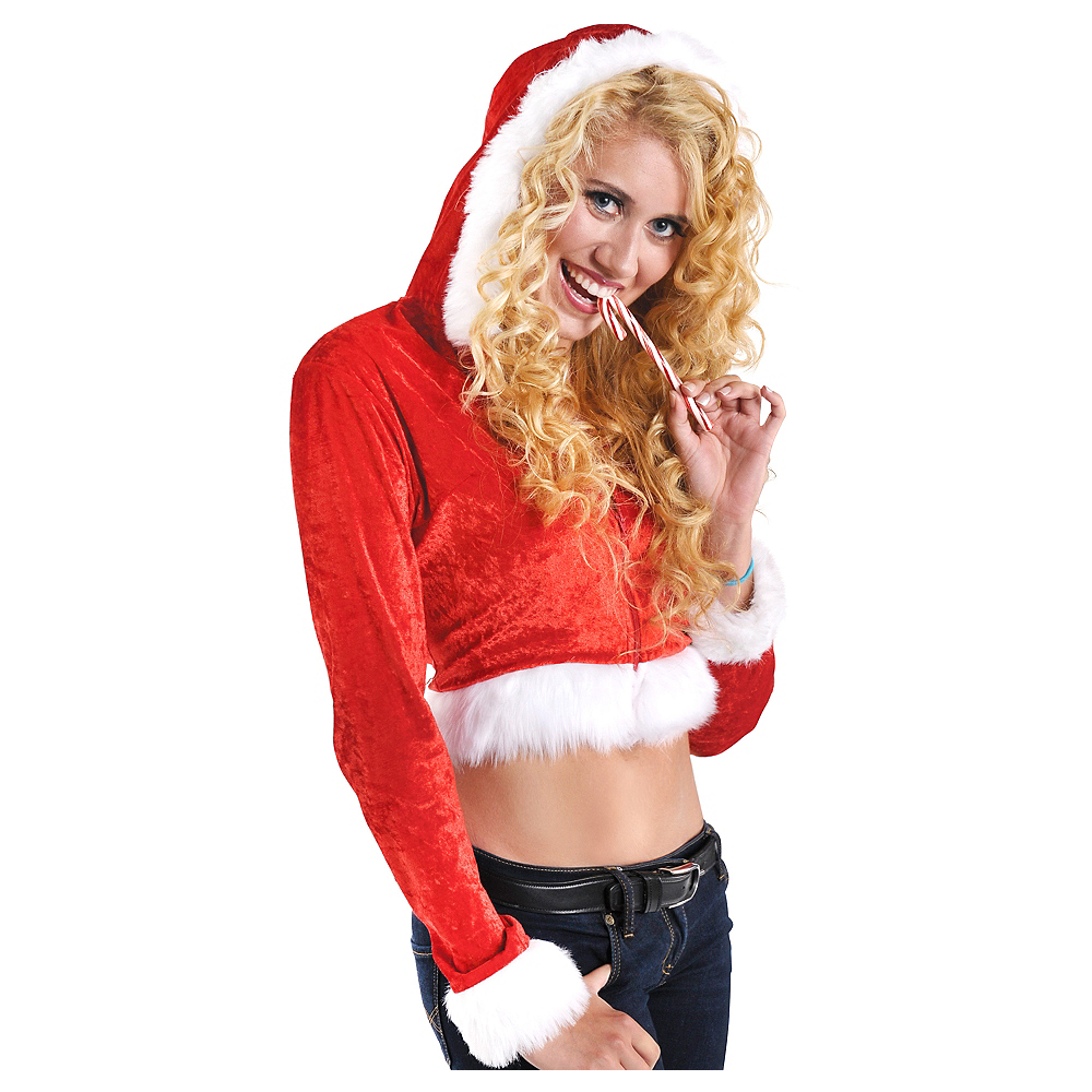 Nav Item for Adult Ms. Claus Hoodie Image #1