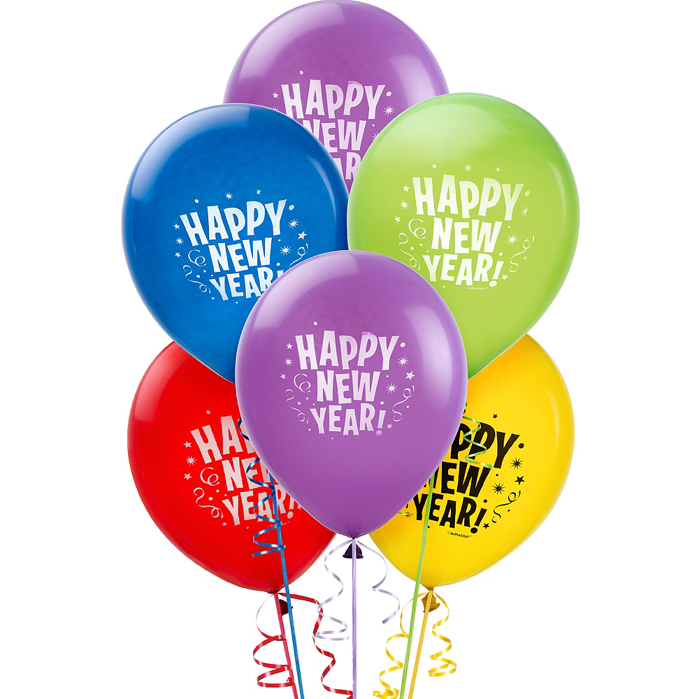 Primary Color Happy New Year Balloons 20ct | Party City Canada