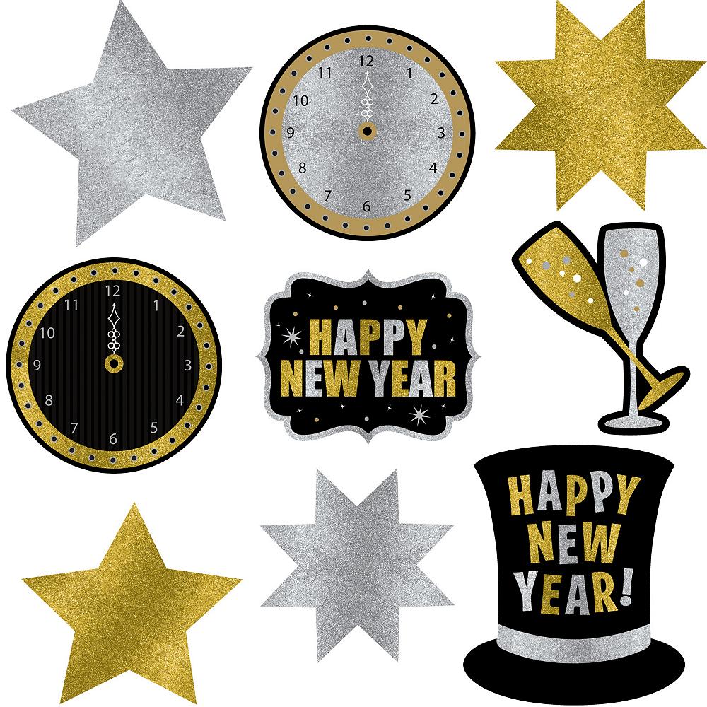 Glitter New Year's Cutouts 9ct Image #1