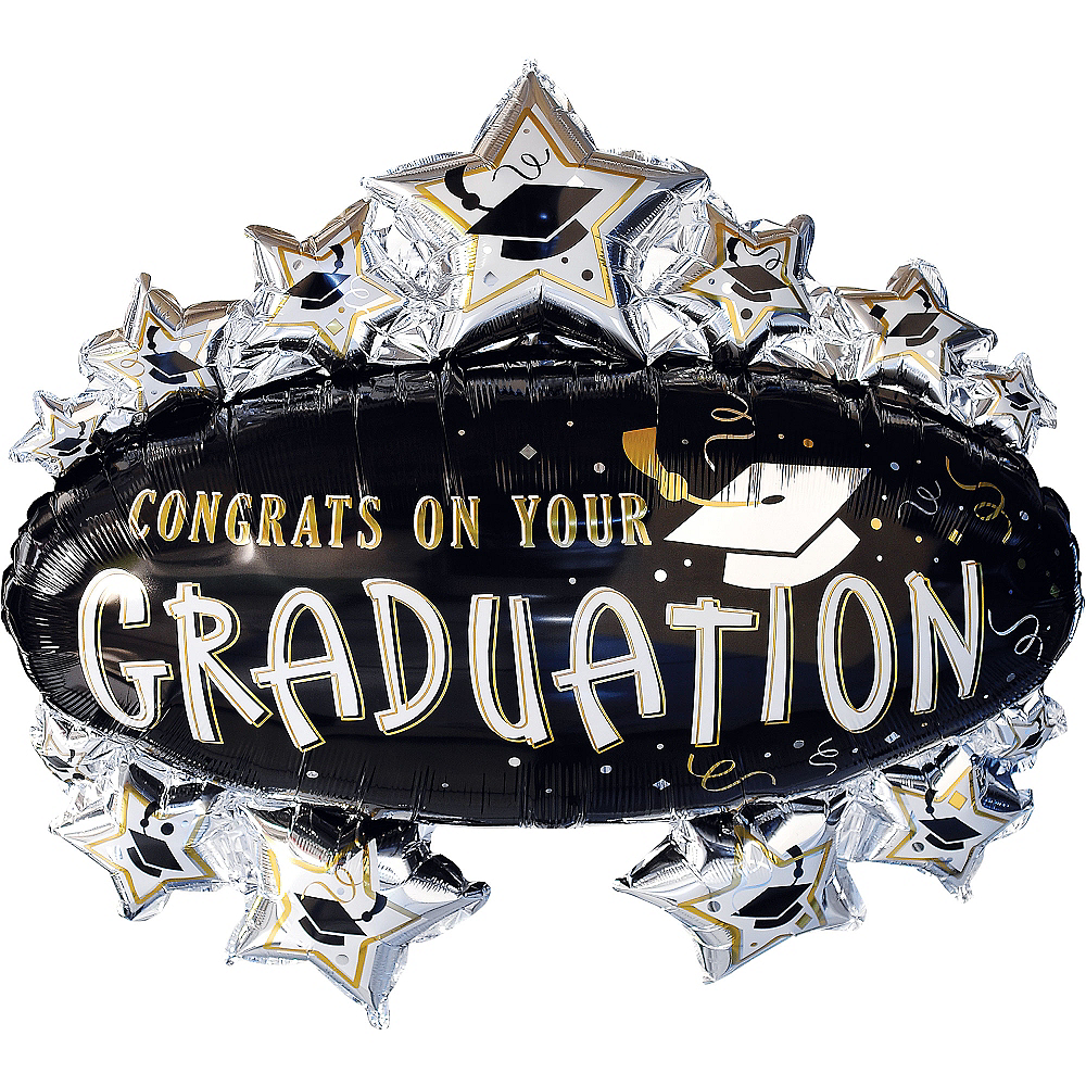 Nav Item for Congrats Grad Marquee Graduation Balloon 31in, 31in Image #1