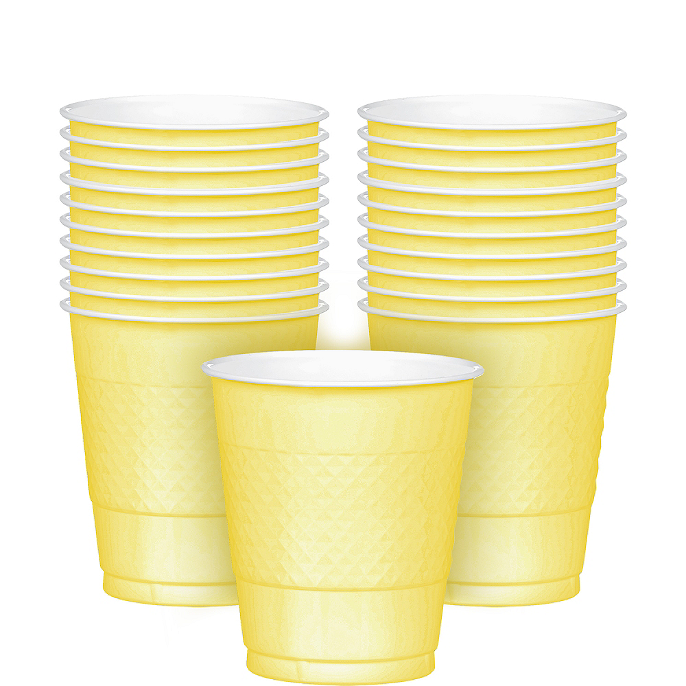 Nav Item for Light Yellow Plastic Cups 20ct Image #1