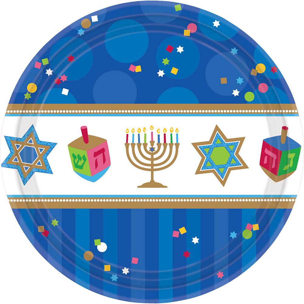 Hanukkah Celebrations Dinner Plates 18ct Image #1