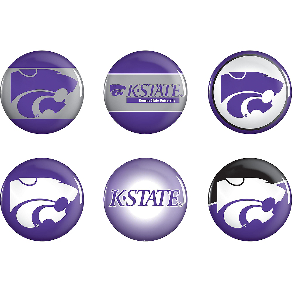 Kansas State Wildcats Buttons 6ct Image #1