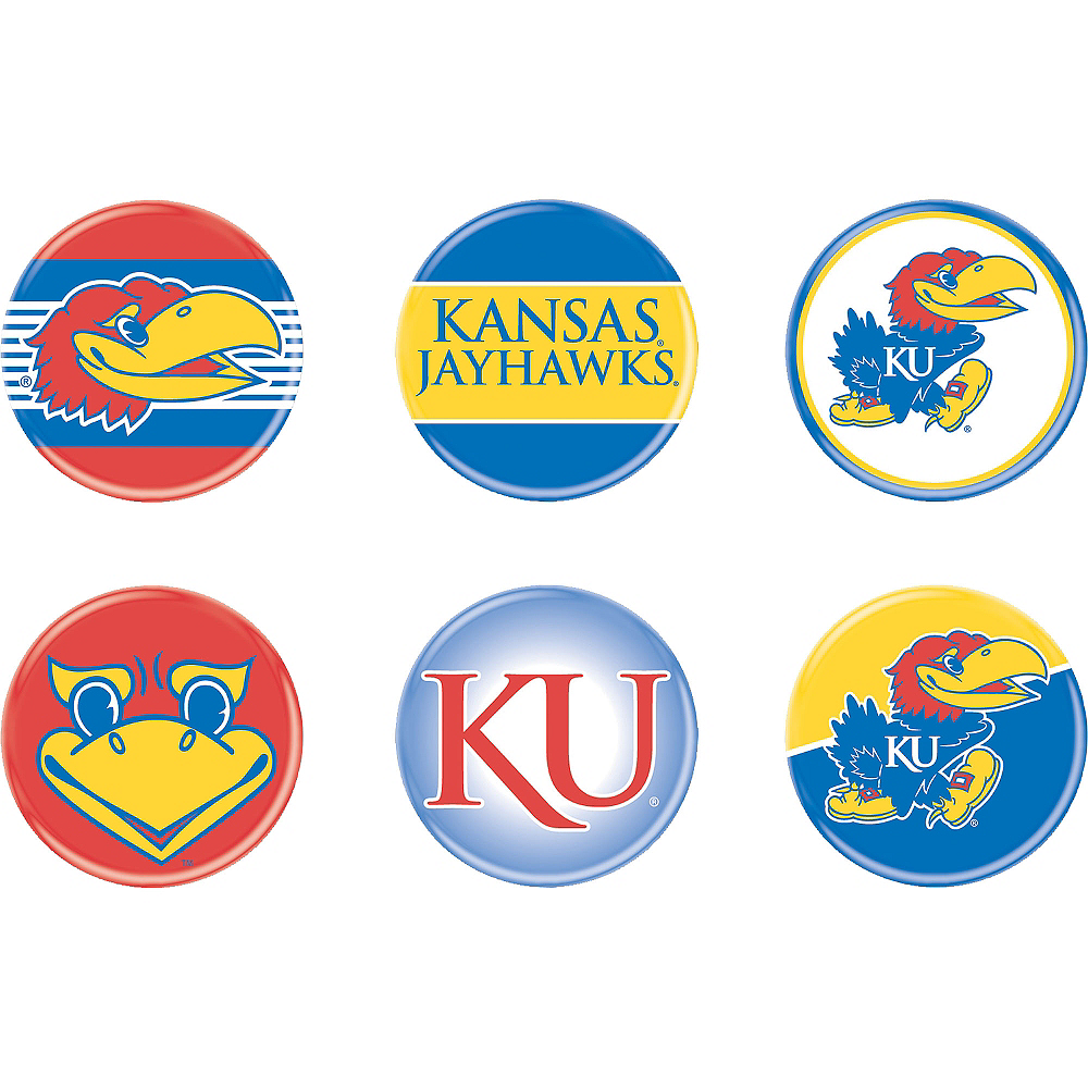 Kansas Jayhawks Buttons 6ct Image #1