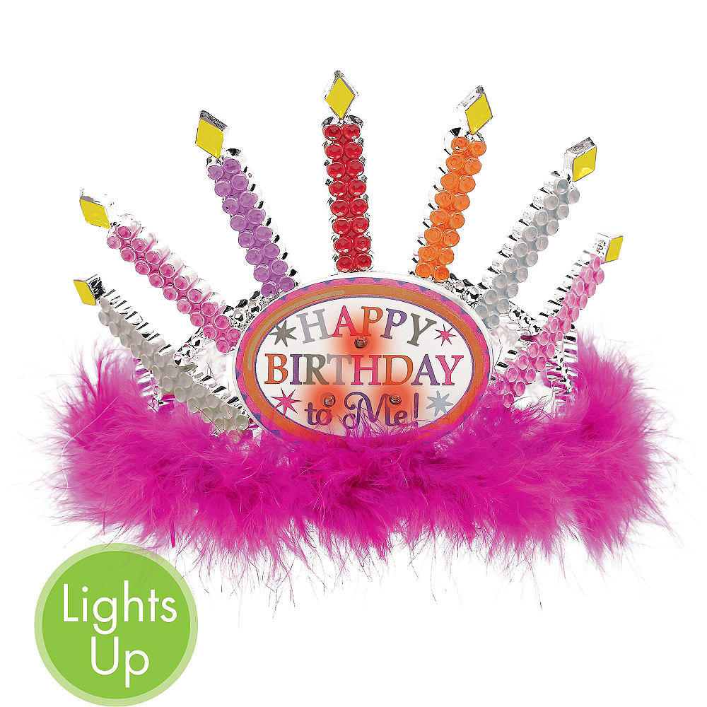Light Up Candle Happy Birthday Tiara Image 1