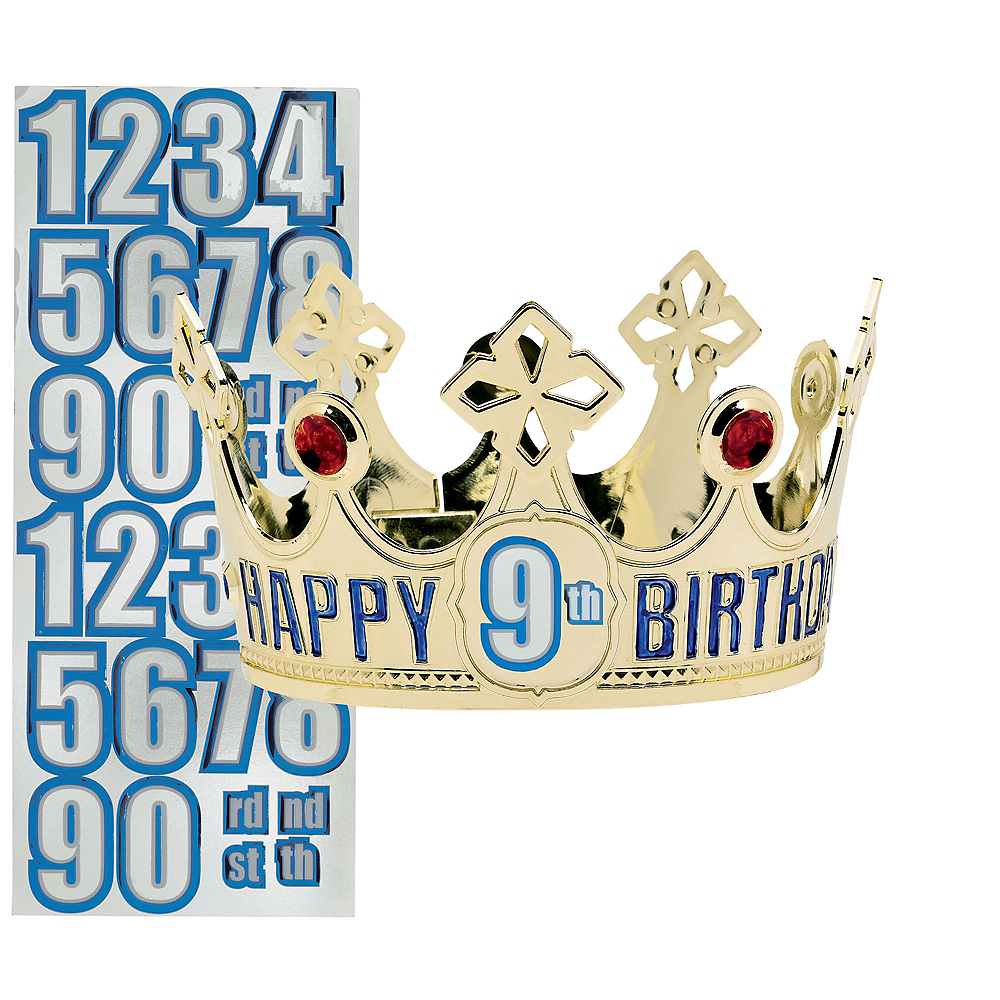 Child Personalized Gold Happy Birthday Crown Kit Image 1
