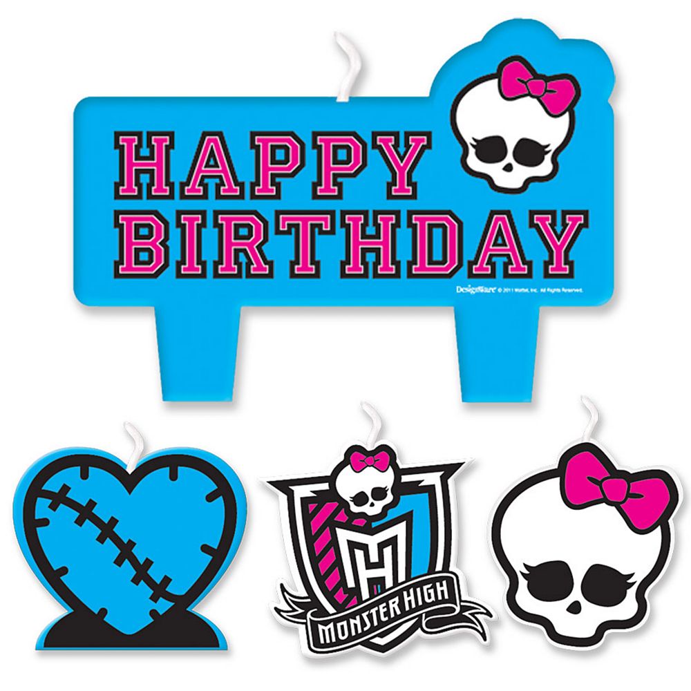 Monster High Birthday Candles 4ct Image #1