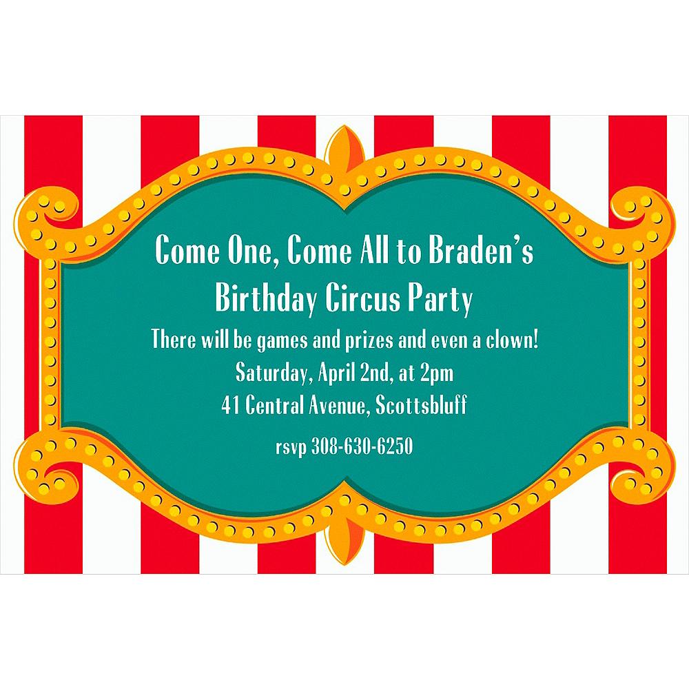Custom Big Top Invitations Image #1