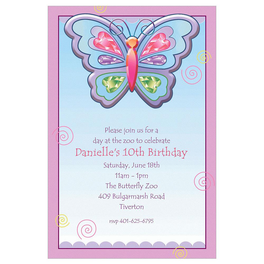 Custom Fluttering Butterfly Invitations Image #1
