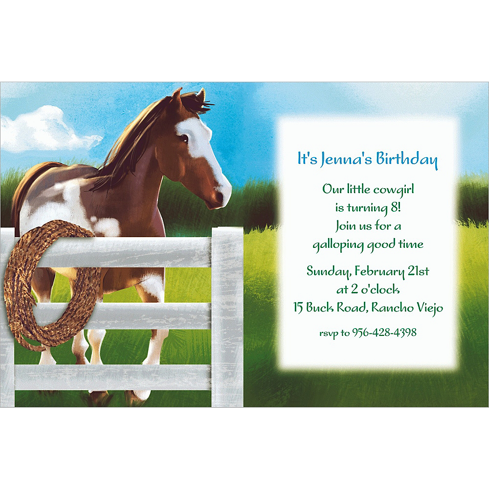 Custom Giddy Up Invitations  Image #1