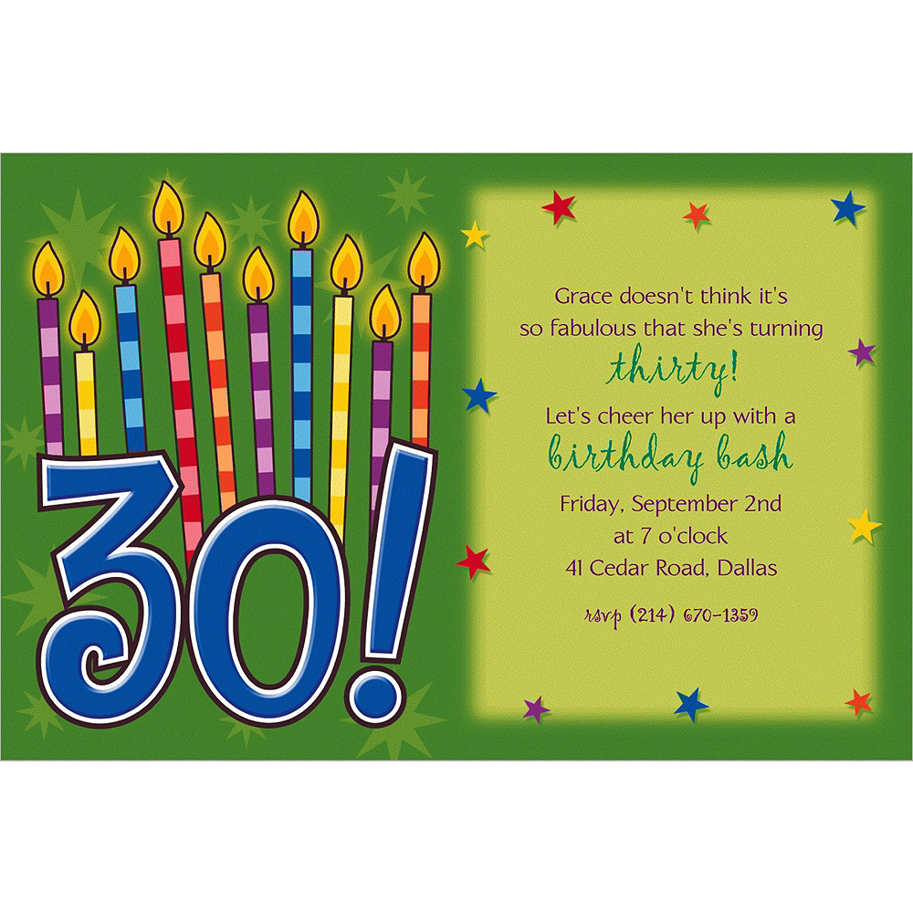 Custom Great Birthday 30th Birthday Invitations  Image #1