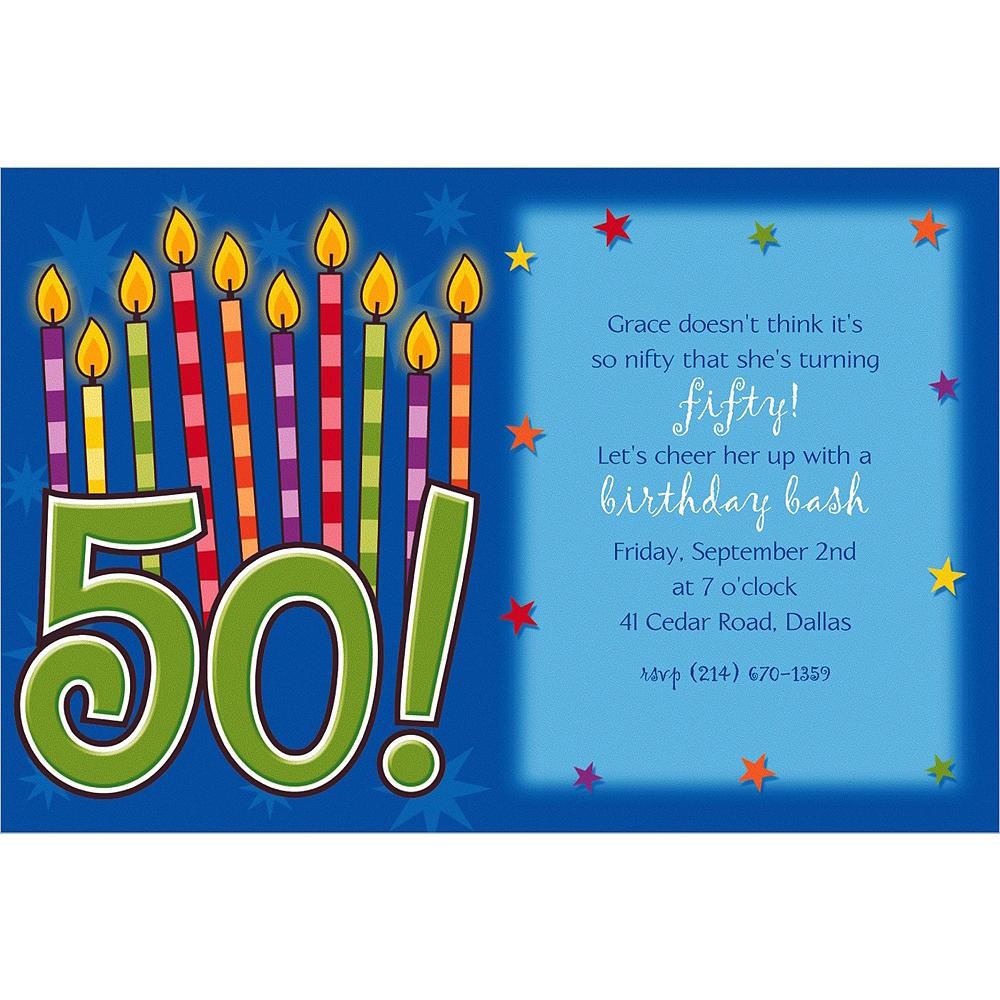 Custom Great Birthday 50th Invitations Image #1