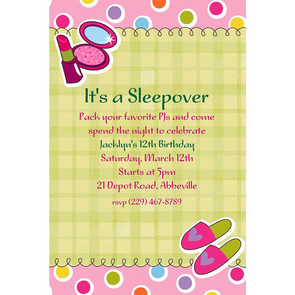 Custom sleepover party invitations party city custom sleepover party invitations stopboris Choice Image