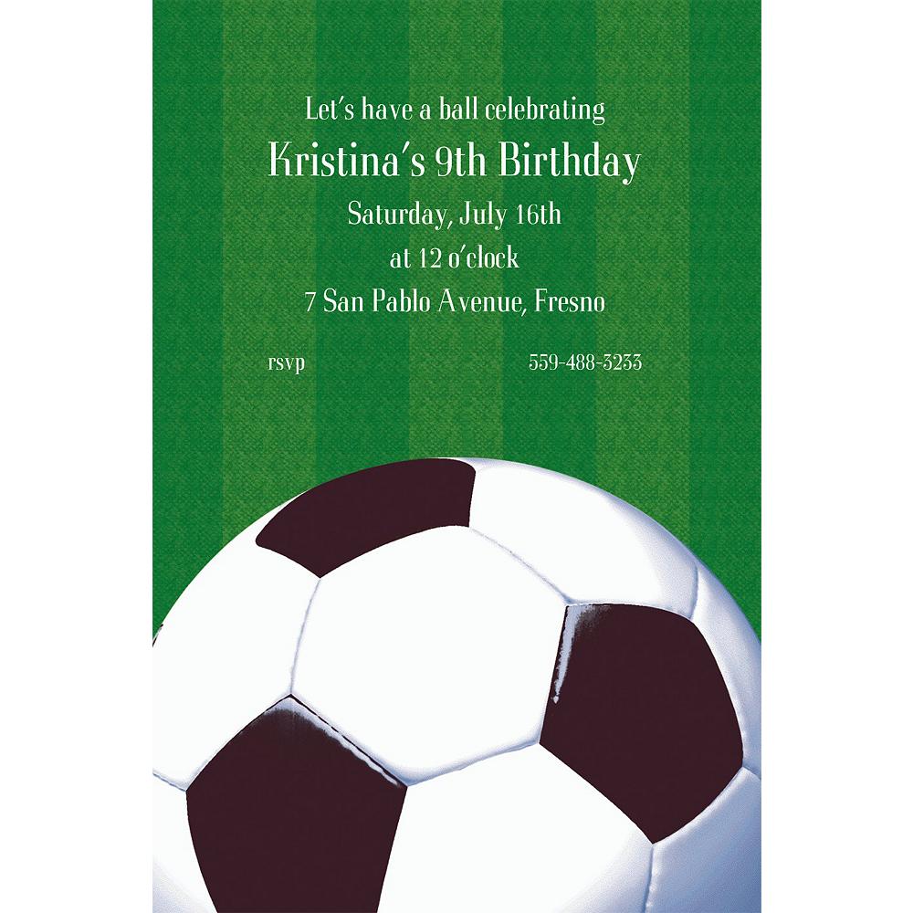 Custom Soccer Fan Invitations Image #1
