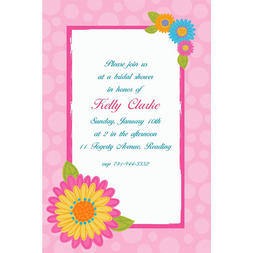 Custom Splashy Flower Invitations | Party City