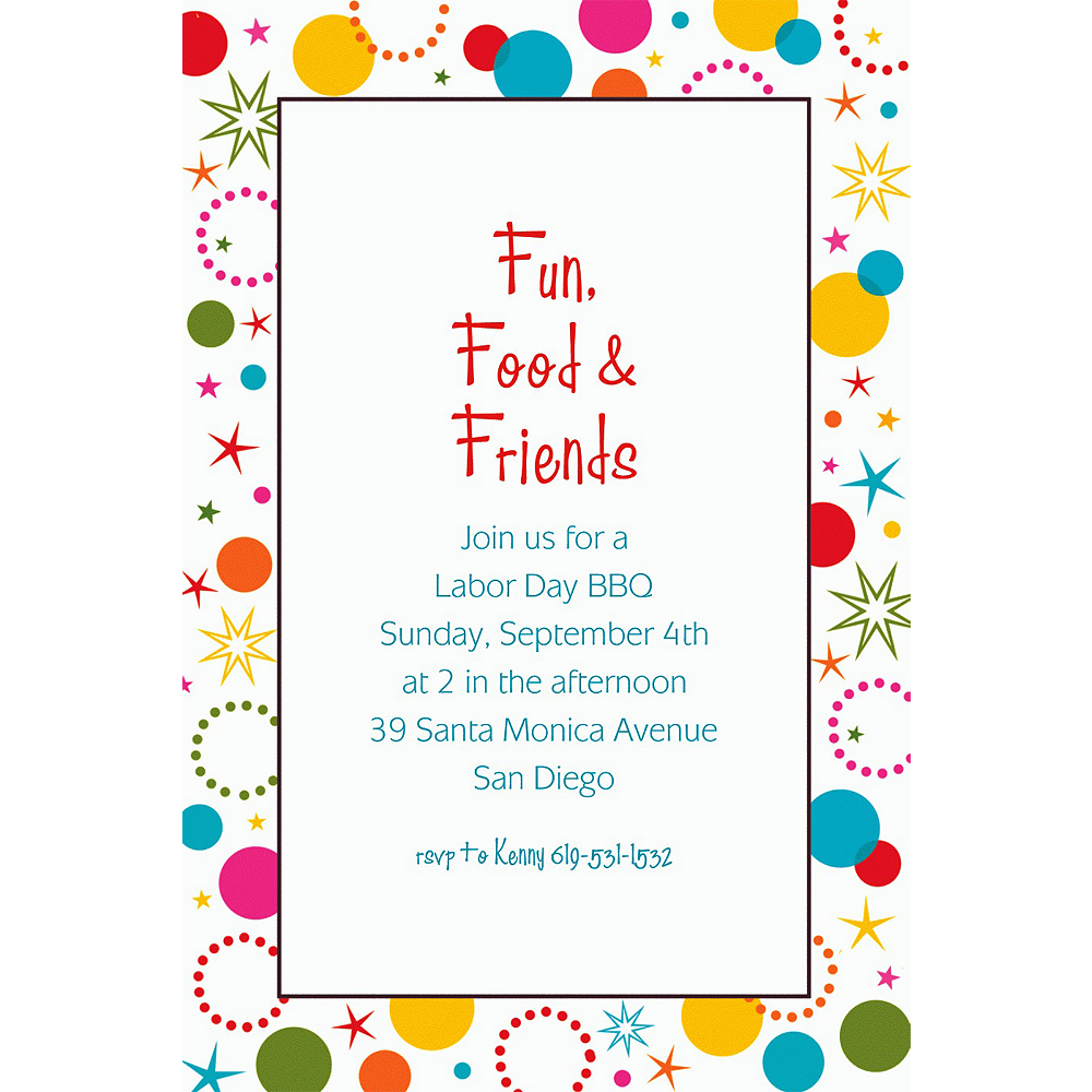 Custom Party Time Invitations Image #1