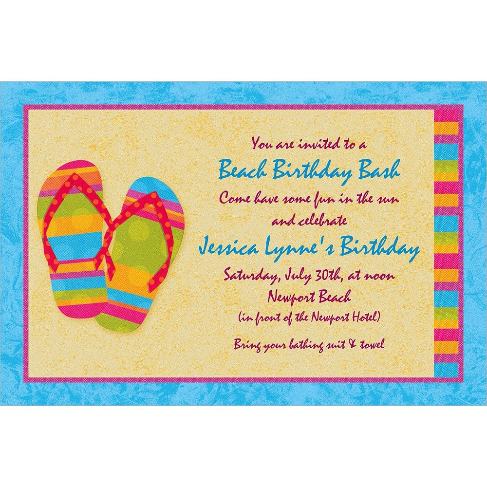 Custom Flip Flops Summer Invitations Image #1
