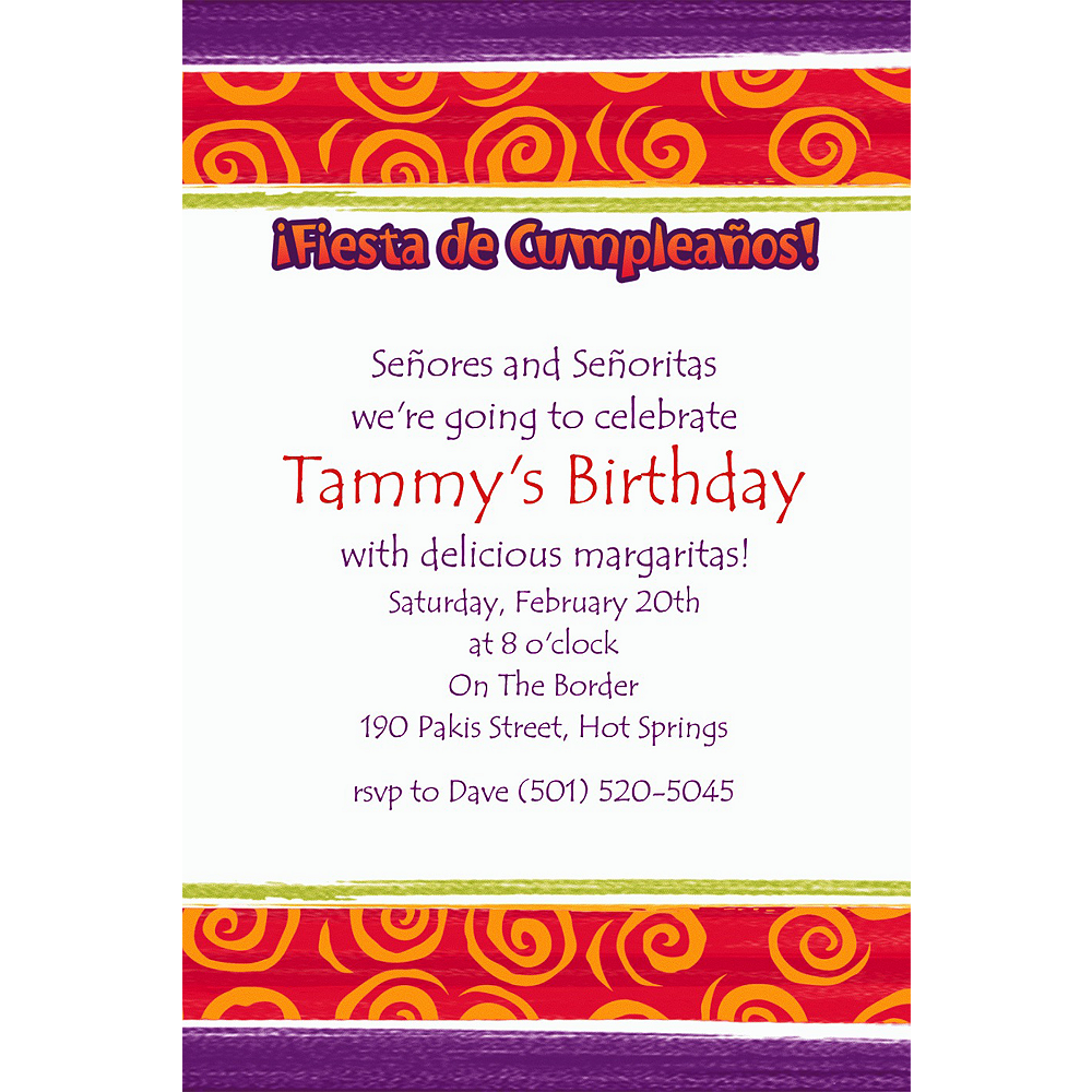 Custom Birthday Cumpleanos Invitations | Party City