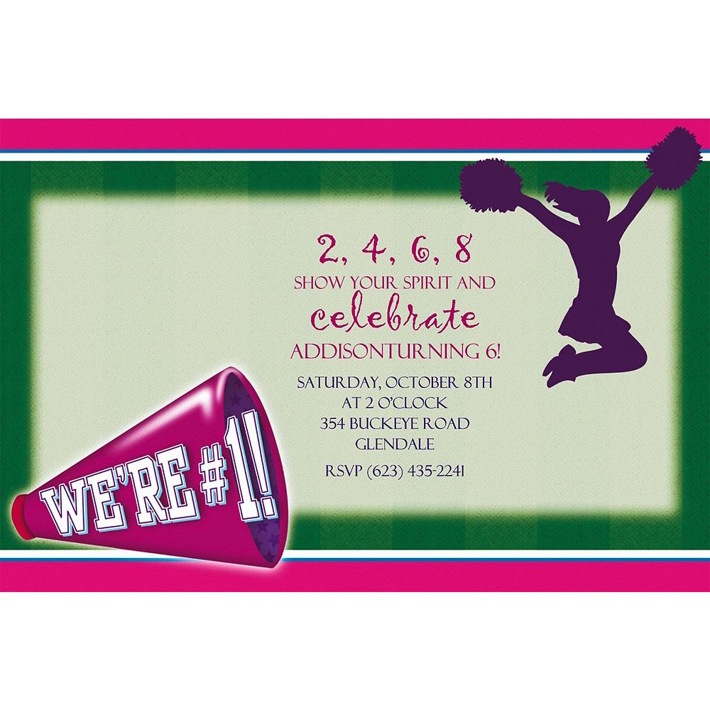 Custom Cheerleading Invitations Image #1