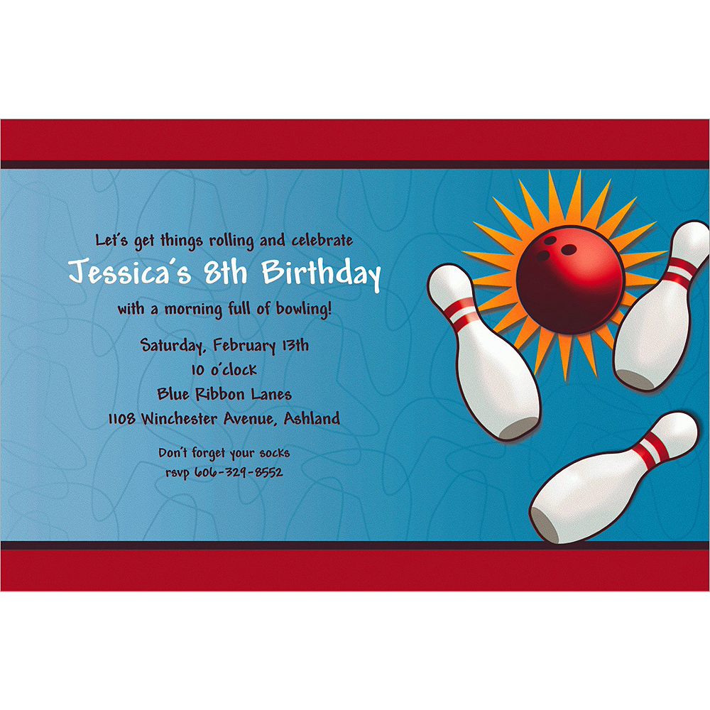 Custom It's A Strike Invitations Image #1
